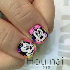 Animal Nail Designs, Nail Polish Designs, Nail Art Designs, Mickey Nails, La Nails, Nails For Kids, Magic Nails, Elegant Nails, Nail Arts