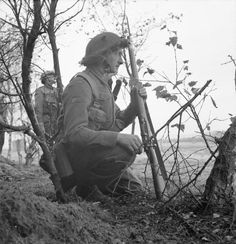 Infantry of the 1st Suffolk Regiment, 3rd Division, during the attack on Overloon, 14 October 1944.