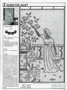 0 point de croix femme au jardin  - cross stitch lady in the garden