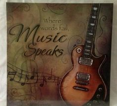 music themed home decor | Media Theatre Room Music Canvas Guitar Picture Home Decor | eBay
