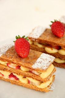 dailydelicious: Mille feuille: Delicious, crunchy, sweet and bitter, you have them here.