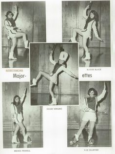 1968 Majorettes in the yearbook of Crestview high school in Convoy, Ohio.  #Crestview #yearbook #1968
