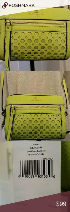 "Kate Spade Perri Lane Bubbles Leather Crossbody Kate Spade cross body bag, strap is 24"" long. kate spade Bags Crossbody Bags"