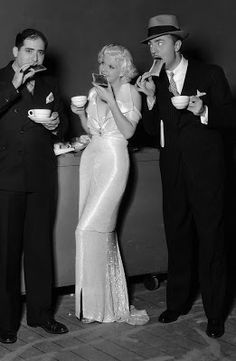 jean harlow with 2nd husband paul bern shortly after their marriage, june 6, 1932. (bern would commit suicide in september of that year)