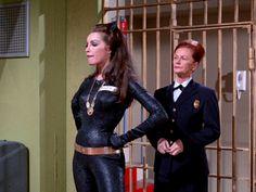 "Julie Newmar as Catwoman. Batman ""Catwoman Goes to College"" Batman Show, Real Batman, Batman Tv Series, Im Batman, Batman Robin, Catwoman Character, Original Catwoman, James Gordon, Tv Band"