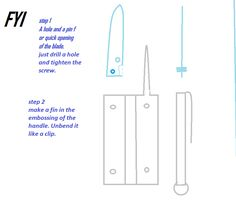 Origami Knife, Chart, How To Make