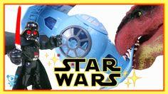 Star Wars Playset Toys Darth Vader meets Dinosaur - Star Wars Video for ...