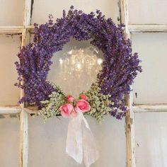 Pretty lavender & rose wreath