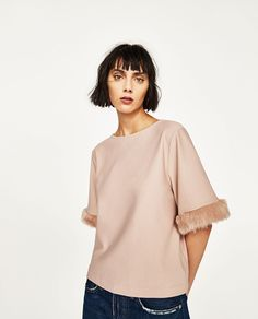 SLEEVE DETAIL TOP - Available in more colours