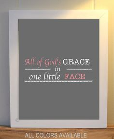 Baptism, baby girl nursery, nurser quotes, typography, girls room wall art, nursery art, Christian nursery art, custom colors on Etsy, $10.99