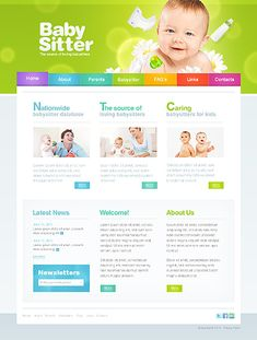 Template 36745 - Babysitter Nurse Website Template | Project 5 ...
