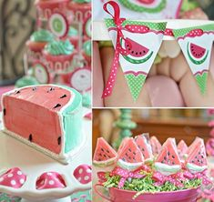 Watermelon Birthday Party from Kara's Party Ideas Watermelon Birthday Parties, Summer Birthday, Girl First Birthday, Baby Birthday, First Birthday Parties, First Birthdays, Party Summer, Princess Birthday, Girls Birthday Party Themes