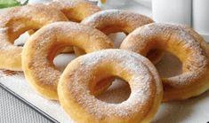 Domácí koblížky z kefíru i pro začátečníky hotové za 15 minut recept Donut Recipes, Dessert Recipes, Cooking Recipes, Churros, Borscht Soup, Unique Recipes, Ethnic Recipes, Utila, Russian Recipes