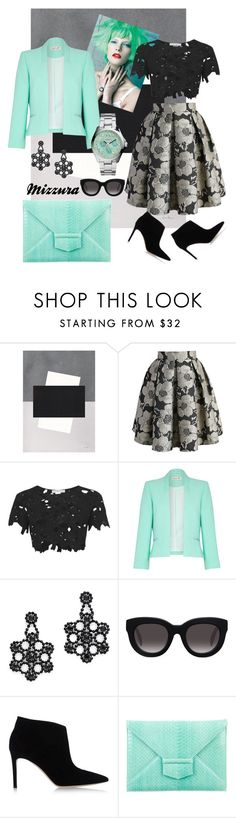 """""""Untitled #61"""" by mizzura ❤ liked on Polyvore featuring Chicwish, Rare London, Damsel in a Dress, Kate Spade, Muse, Gianvito Rossi, Oscar de la Renta and FOSSIL"""