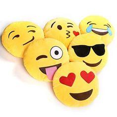 Ciamlir Soft Emoji Smiley Emoticon Yellow Round Cushion Pillow Stuffed Plush Toy Doll