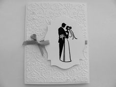 Wedding CardEmbossed by SassyScrapsCrafts on Etsy, $3.50