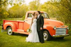 #Bride and #Groom kissing in front of an old #Chevy #Truck. #Weddings #WeddingPhotography #BostonWeddings #Christmas #thanksgiving #Holiday #quote