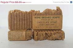 ON SALE Craft Beer Soap Chocolate Stout Gift by HomeBrewedSoaps