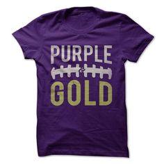 Purple and Gold Football T Shirts, Hoodies. Get it now ==► https://www.sunfrog.com/Sports/Purple-amp-Gold--Football.html?57074 $22