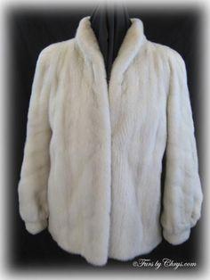 Tourmaline Off White Mink Jacket Size Range: 6 - Price: SOLD, Excellent Condition Mink Coats, Mink Fur, Mink Jacket, Furs, Shawl, Off White, Label, Range, Bracelet