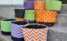 Halloween Trick or Treat Buckets.   I see great silhouette projects with these!