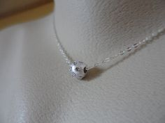Floating Sterling Silver White Satin by Jenalynscreations on Etsy, $20.99