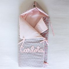 Oh my goodness! So very cute!! Baby girl nest with embroidered name by Les Fils
