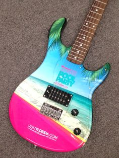 Custom Wrapped Promotional Guitar by Brand O' Guitar Company