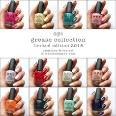 OPI Grease Collection Swatch Composite ©imabeautygeek.com