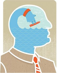 """Surfing On The Brain"" illustration by Tyler Garrison"