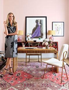 Lauren Santo Domingo in the Moda Operandi offices / Architectural Digest / Manhattan