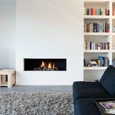 Ideas Living Room Small Fireplace Built Ins For 2019 Modern Houses Interior, Simple Fireplace, Living Room With Fireplace, Fireplace Bookshelves, Living Room Modern, Fireplace Design, Trendy Living Rooms, House Interior, Modern Fireplace