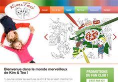 Création et conception graphique du site #internet KIM & TEO proposant des activités destinés aux #enfants sous forme de #jeux, de #coloriages et de #concours ainsi que des adresses utiles à #Genève et aux environs pour les parents.