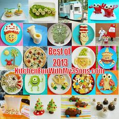 "22 of our most Popular Fun Food Creations from 2013!! From ""KitchenFunWithMy3Sons.com"