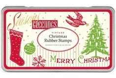 Das Stempelset Vintage Christmas von Cavallini besteht aus 7 Holzstempeln und einem schwarzen Stempelkissen, die in einer schönen Metalldose verpackt sind.  Enthalten sind neben dem Stempelkissen...