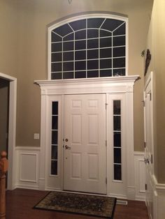 Door chair rail and picture frame molding in foyer & Foyer chair rail and picture frame molding   Home   Pinterest ...