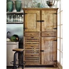 23 Best Ideas of Rustic Kitchen Cabinet You'll Want to Copy Rustic themed kitchen is a beautiful combination of country cottage and farmhouse decoration. Browse more ideas of rustic kitchen design on our site! Pantry Cupboard, Pantry Storage, Kitchen Storage, Pantry Diy, Pallet Pantry, Pantry Ideas, Pantry Doors, Pantry Cabinets, Cupboard Doors