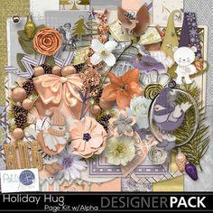 Holiday Hug Page Kit with Alpha