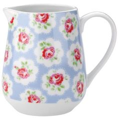 This pretty little milk jug is great for tea parties and breakfast time too. Complete the Provence Rose look with matching tea cups and cereal bowls.