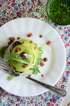 Sounds perfect for a Fall or Summer Salad. Green Apple Salad with Manchego + Spiced Almond Dressing