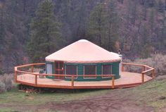 Yurts, another housing option I was looking at. Very compact (but can be expanded), super cheap, and really fast to build (we're talking ONE WEEKEND for the simpler ones). Can be hooked up with power and plumbing, you can add interior walls, lofts, decks, you can connect several together if you need more space.