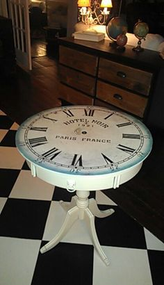 Broken clock..old table...