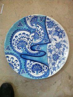 Blue Pottery, Pottery Plates, Glazes For Pottery, Turkish Art, Turkish Tiles, Pottery Sculpture, Sculpture Clay, Pottery Painting, Ceramic Painting