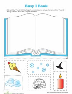 "Letter ""I"" Book Cut & Paste Activity (from Education.com)"