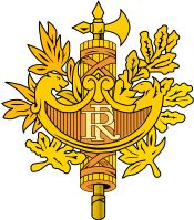 Armoiries république française - France - National emblem of France