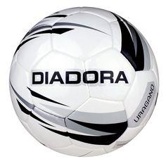 Diadora Uragano Size 5 Match & Training Soccer Ball, White