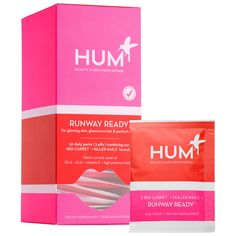 New at #Sephora: Hum Nutrition Runway Ready - A set of 30 daily packs combining HUM's Red Carpet and Killer Nails formulas #skincare #supplements