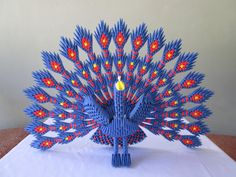Hey, I found this really awesome Etsy listing at https://www.etsy.com/listing/192379458/3d-origami-peacock15000-usd