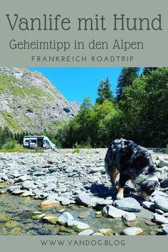 Auf der Suche nach dem ultimativen Vanlife-Feeling während unseres Frankreich-Roadtrips mit Hund finden wir im Herzen der französischen Alpen den perfekten Platz zum Verweilen - das Val Cenis, das sich schließlich auch noch als perfekter Ausgangspunkt zum wandern mit Hund herausstellt. Hol dir ein bisschen Inspiration für deine nächste Reise mit HUnd im Van. Roadtrip, Mountains, Places, Nature, Inspiration, Travel, France, Blog, Europe