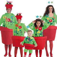 Grinch, Carnival, Group Costumes, Potted Flowers